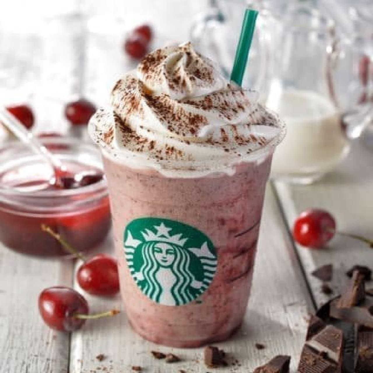 スターバックス コーヒー「チェリー&チョコレート チップ フラペチーノ」