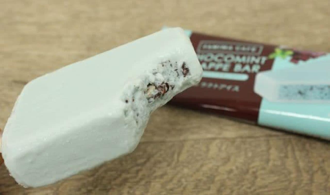「チョコミントフラッペバー」は人気商品「チョコミントフラッペ」がアイスで再現された商品