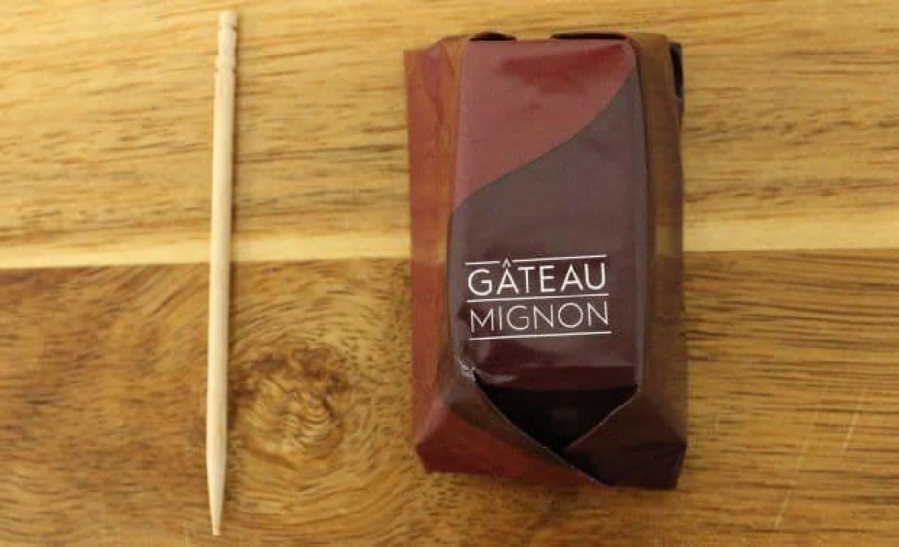 キットカット ショコラトリー ガトーミニョンはサイズは爪楊枝1本分程度