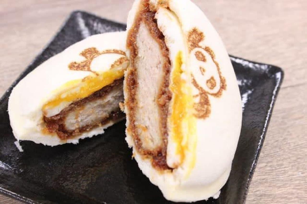 「ポケットサンドたまとろメンチかつ〜うえきゅん焼印〜」はエキュート上野のうえきゅんの焼印が入ったポケットサンド