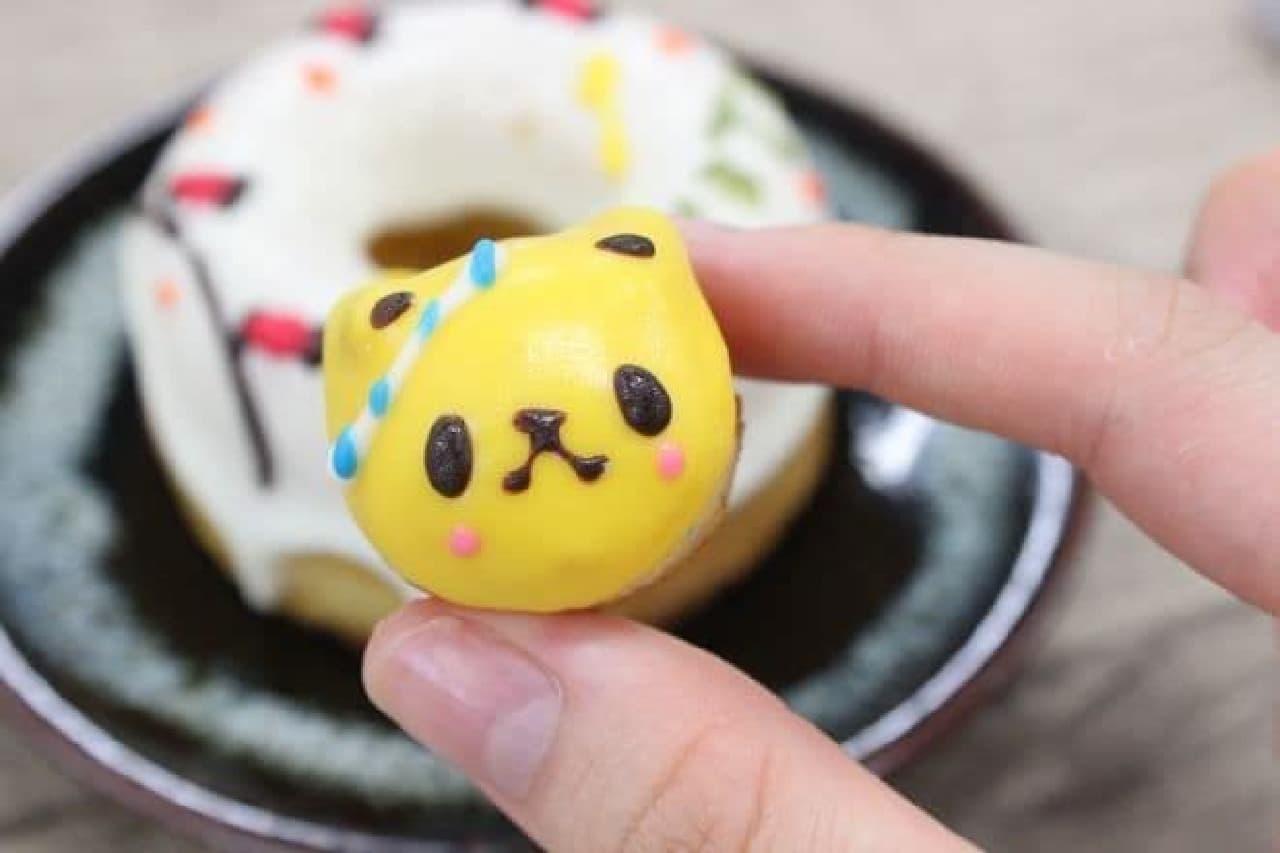 シレトコファクトリーの「シレトコドーナツ ワッショイ☆コパンダ」には黄色いコパンダがトッピング