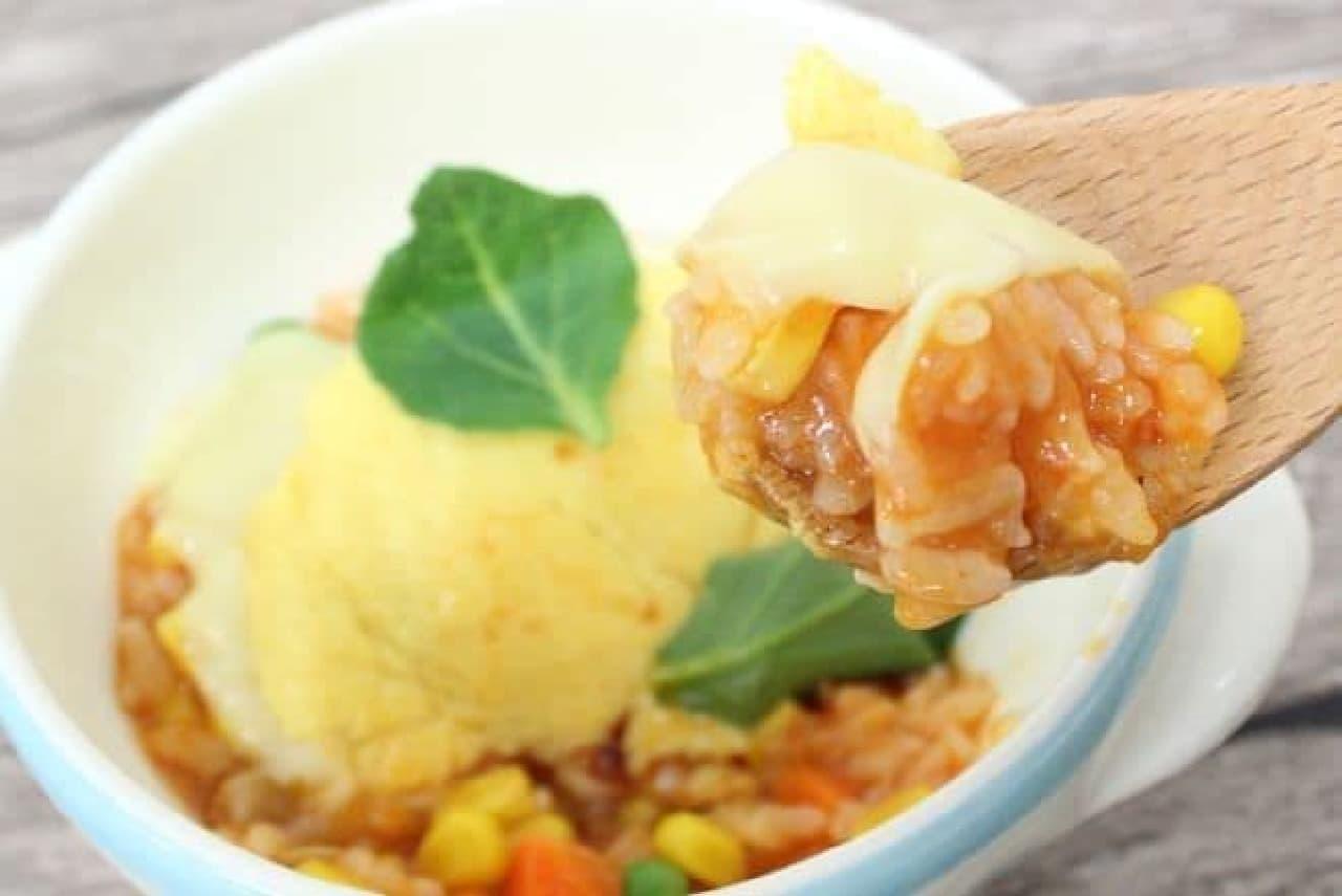 「ふんわり玉子のオムライス」で作るトマトリゾット