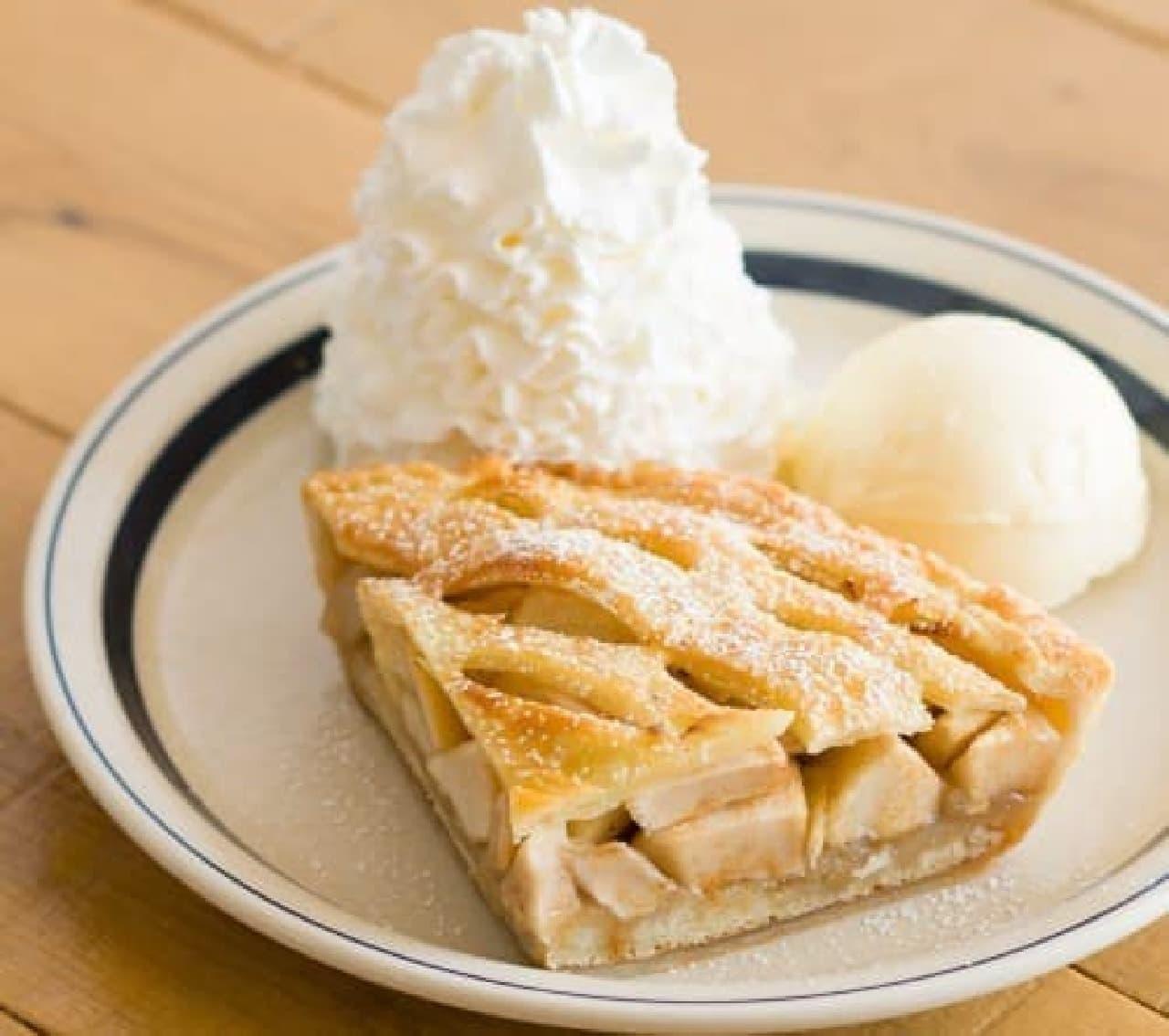 Eggs'n Things(エッグスンシングス)梅田茶屋町店限定、パンケーキ生地を使った「ホームメイドアップルパイ」