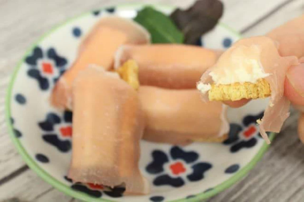 「生ハム&チーズパイ」はハムやチーズの塩気とパイの甘みがマッチする一品