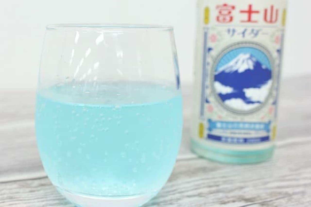 富士山サイダーの中身と瓶