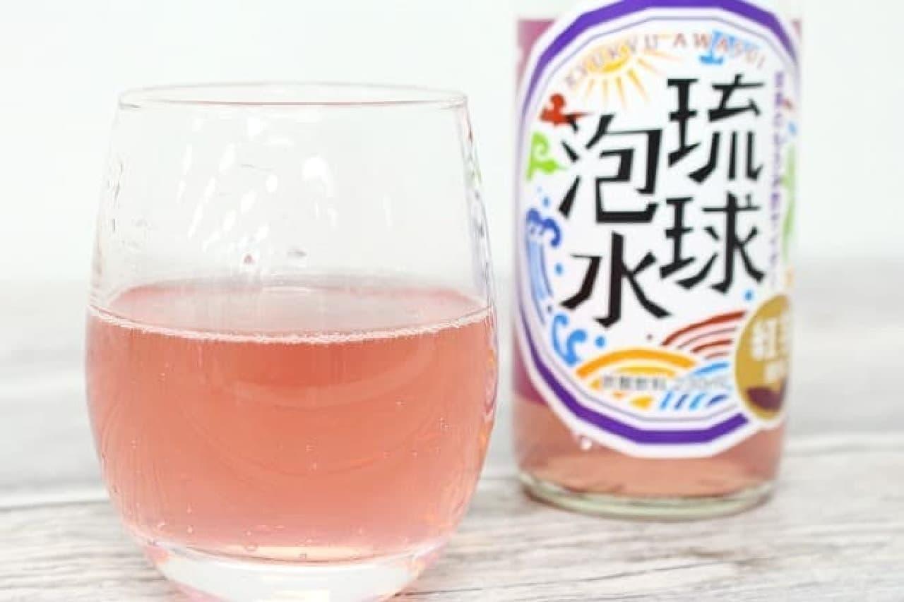 琉球泡水紅芋の中身と瓶