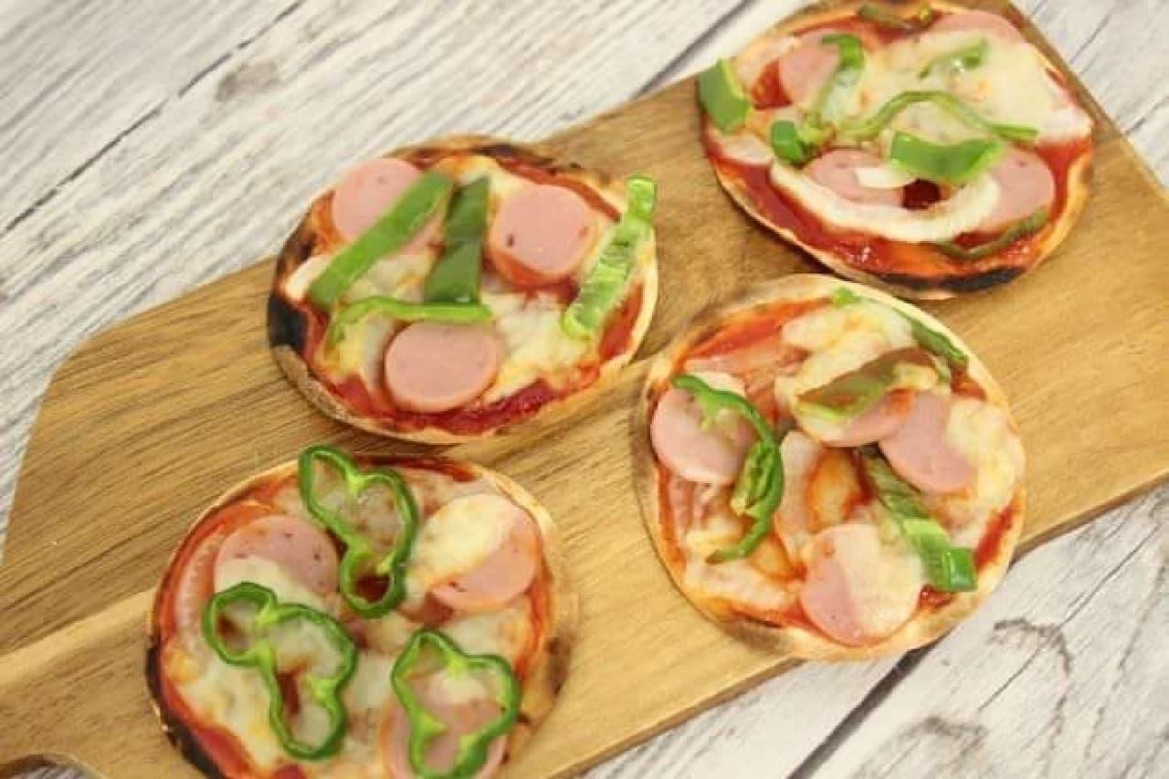餃子の皮でつくるミニピザ