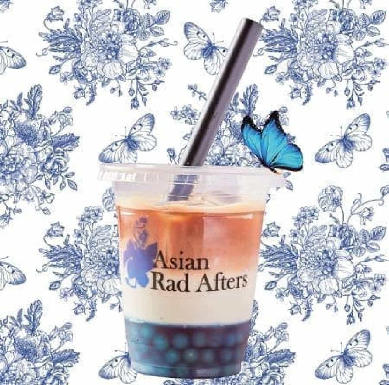 「ブルーバタフライ」はアジアでよく飲まれるハーブティで色付けされた、ブルーのタピオカミルクティ