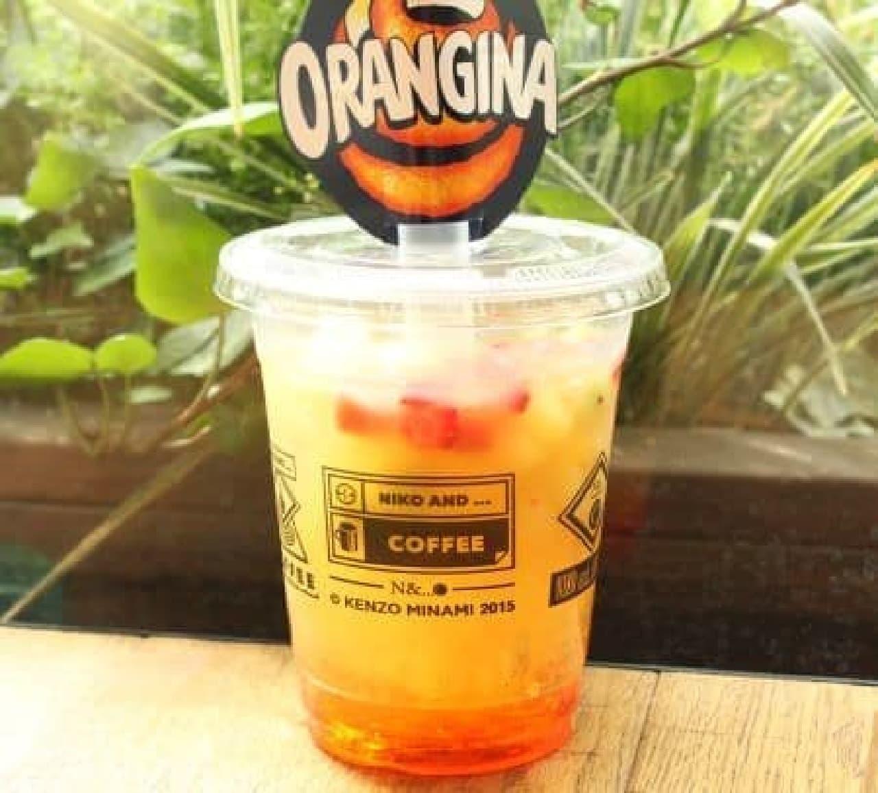 炭酸飲料「オランジーナ」とコラボレーションしたドリンク「アイスフルーツオランジーナ」