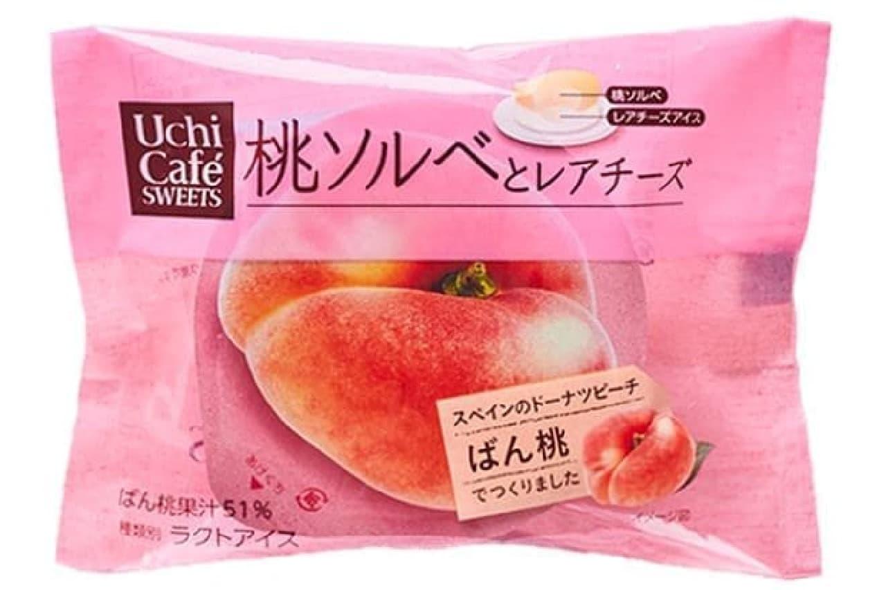 ローソン「桃ソルベとレアチーズ」