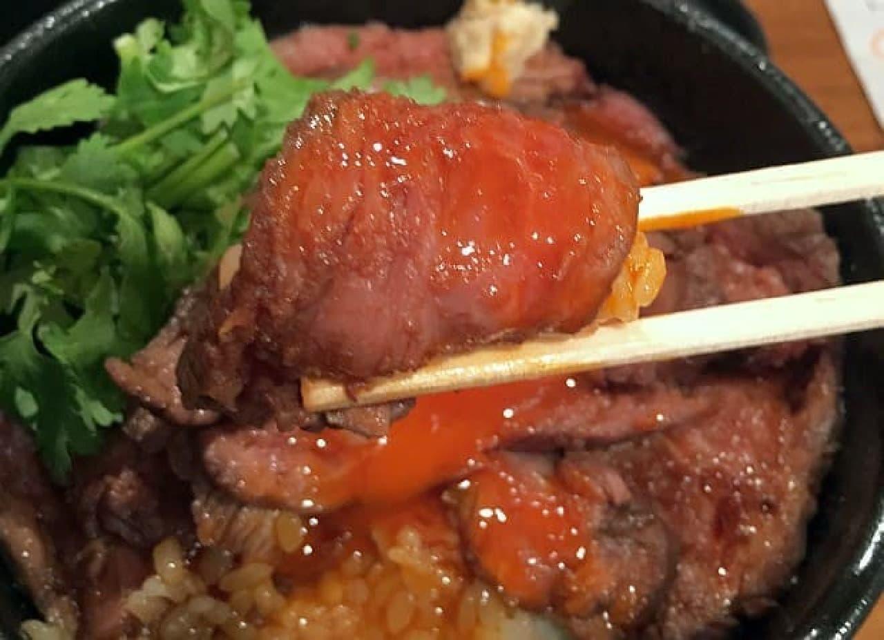 楽太郎「ローストラム丼」