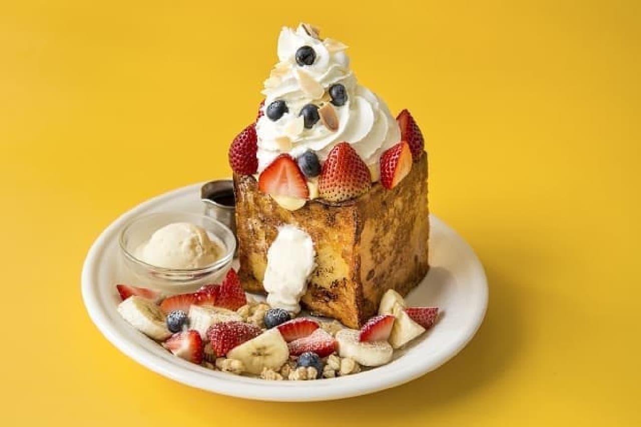 J.S. PANCAKE CAFE 渋谷店「チーズケーキクリーム フレンチトースト」