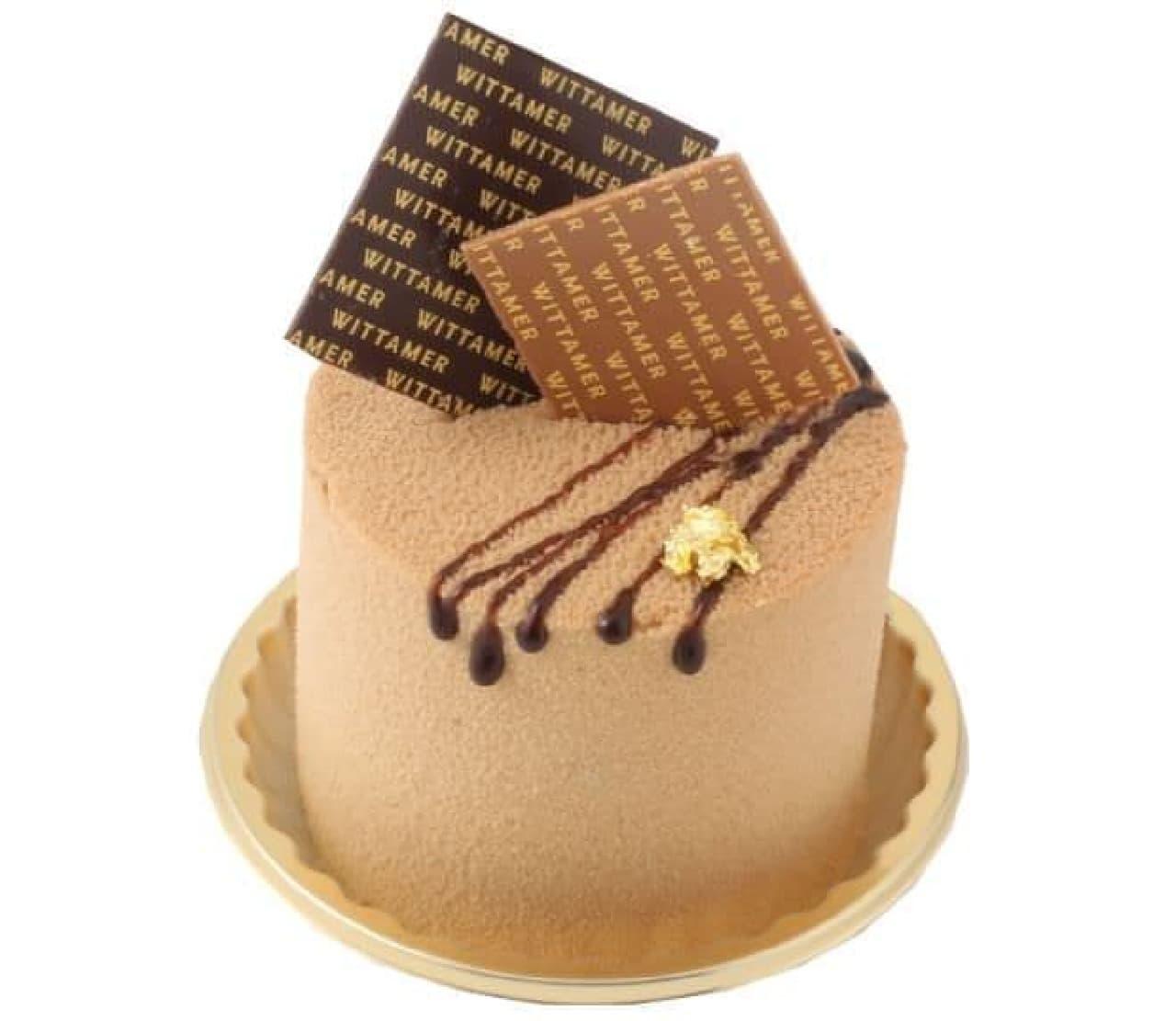 """「ショコラ・オール」は、""""ブロンドチョコレート""""でほろ苦いコーヒークリームとなめらかなキャラメルクリームが包まれたスイーツ"""