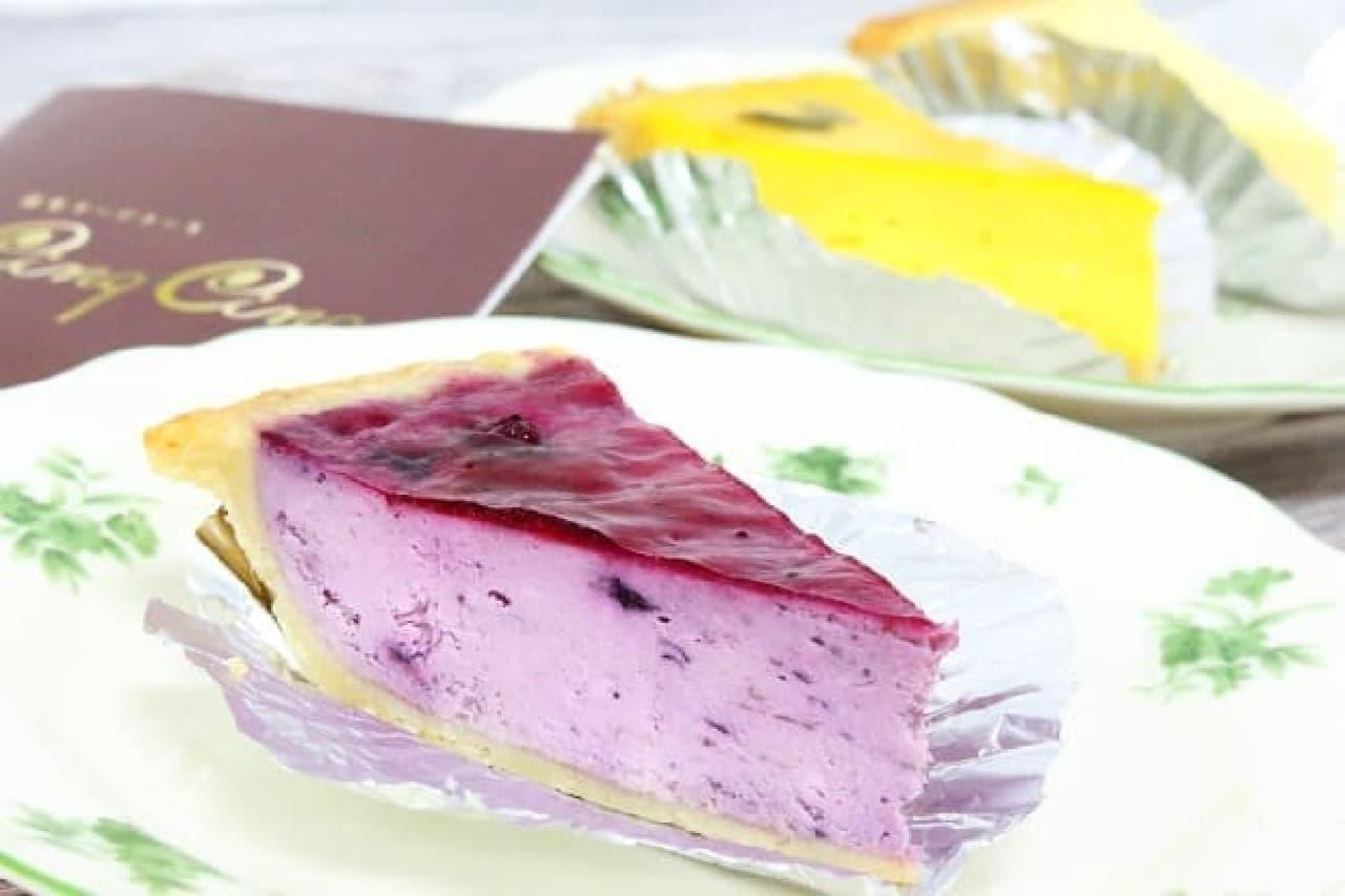 麻布チーズケーキ Cinq Cinq「麻布チーズケーキ」「ブルーベリーチーズケーキ」「かぼちゃチーズケーキ」