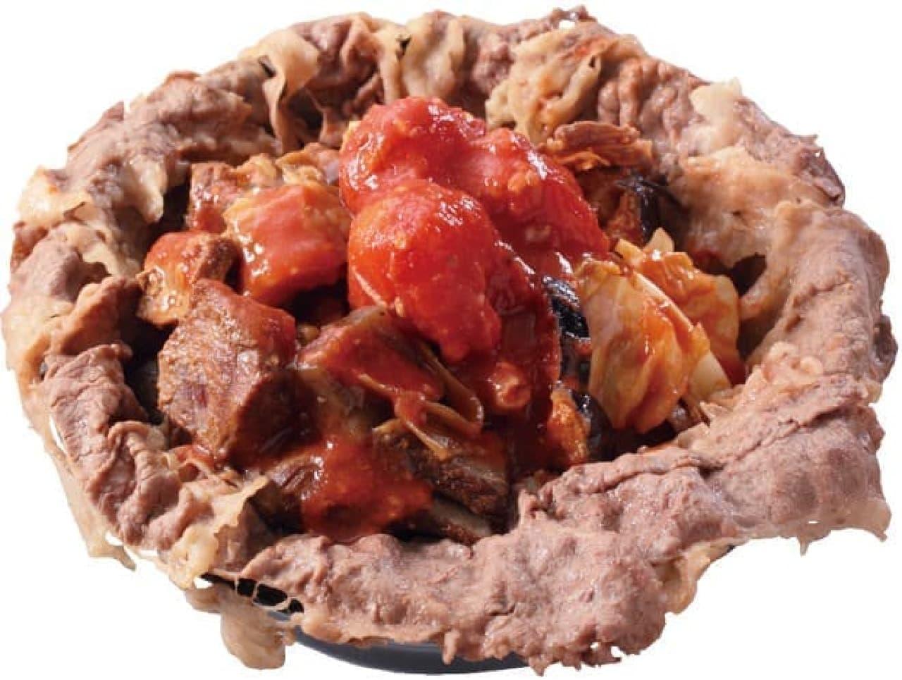 岡むら屋「トマト合盛肉めし」