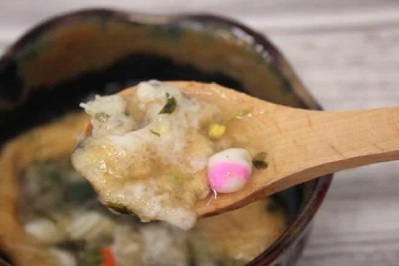 麻布十番「花一会」のお吸物「蟹と貝柱」