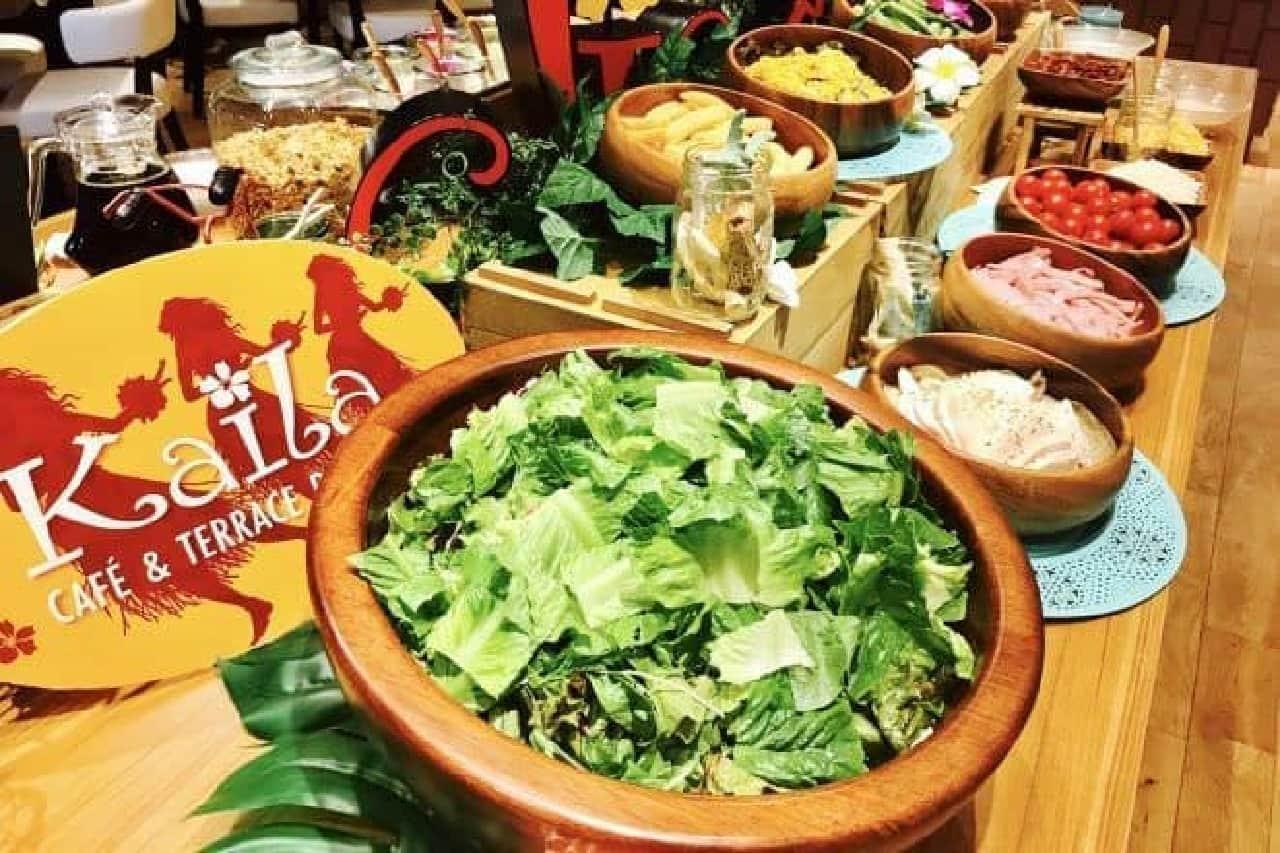「ハワイアン・モーニング・パンケーキビュッフェ」は土日祝限定で開催される朝食ビュッフェ