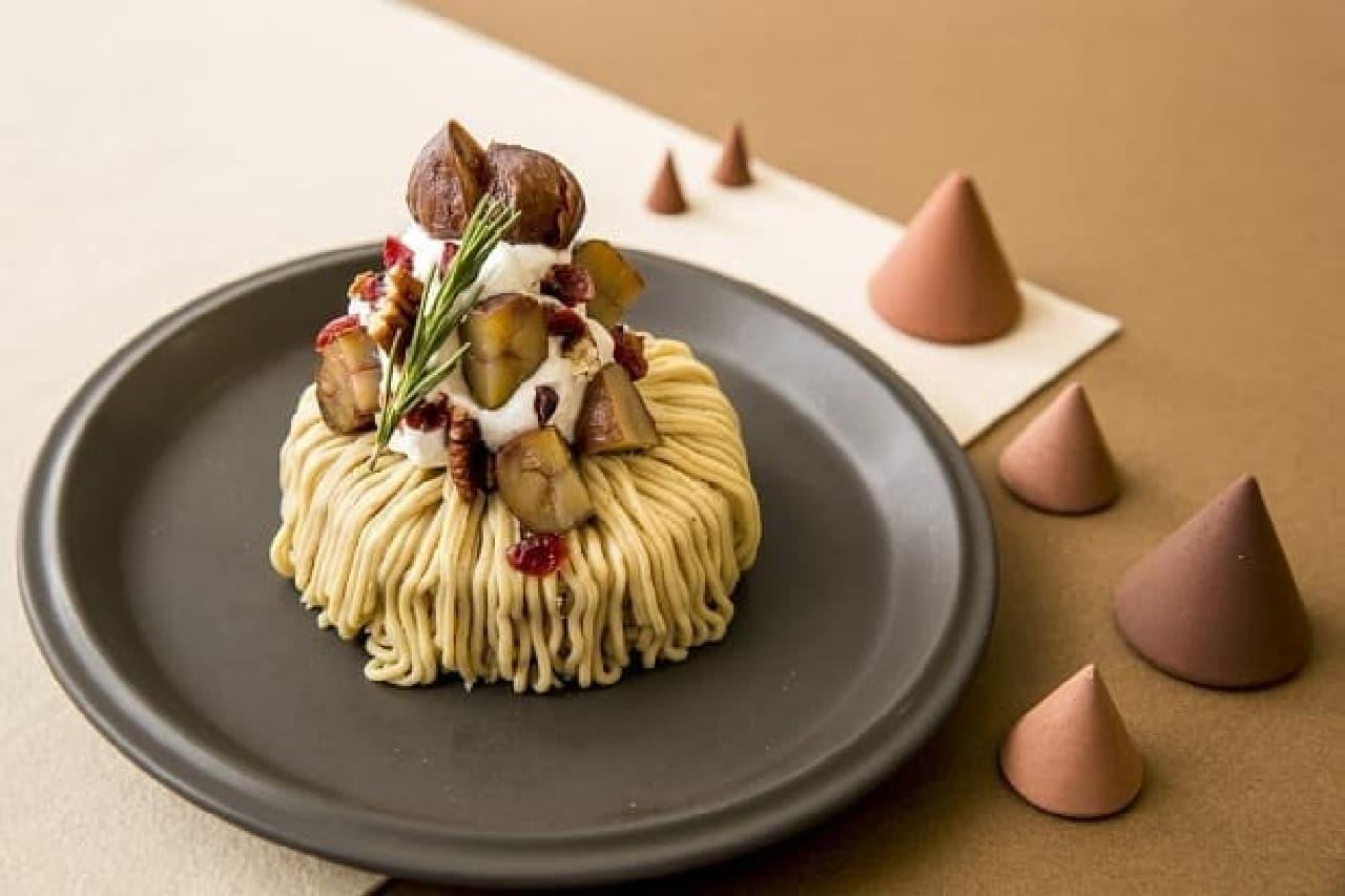 J.S. PANCAKE CAFE「和栗のモンブランパンケーキ」