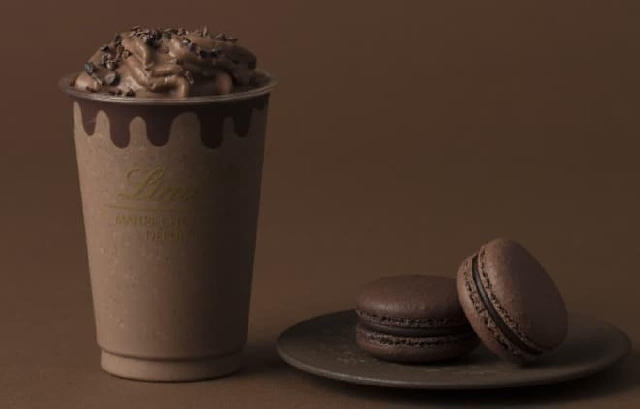 リンツ ショコラ カフェ「リンツ エクセレンス70% ダークチョコレート ドリンク」