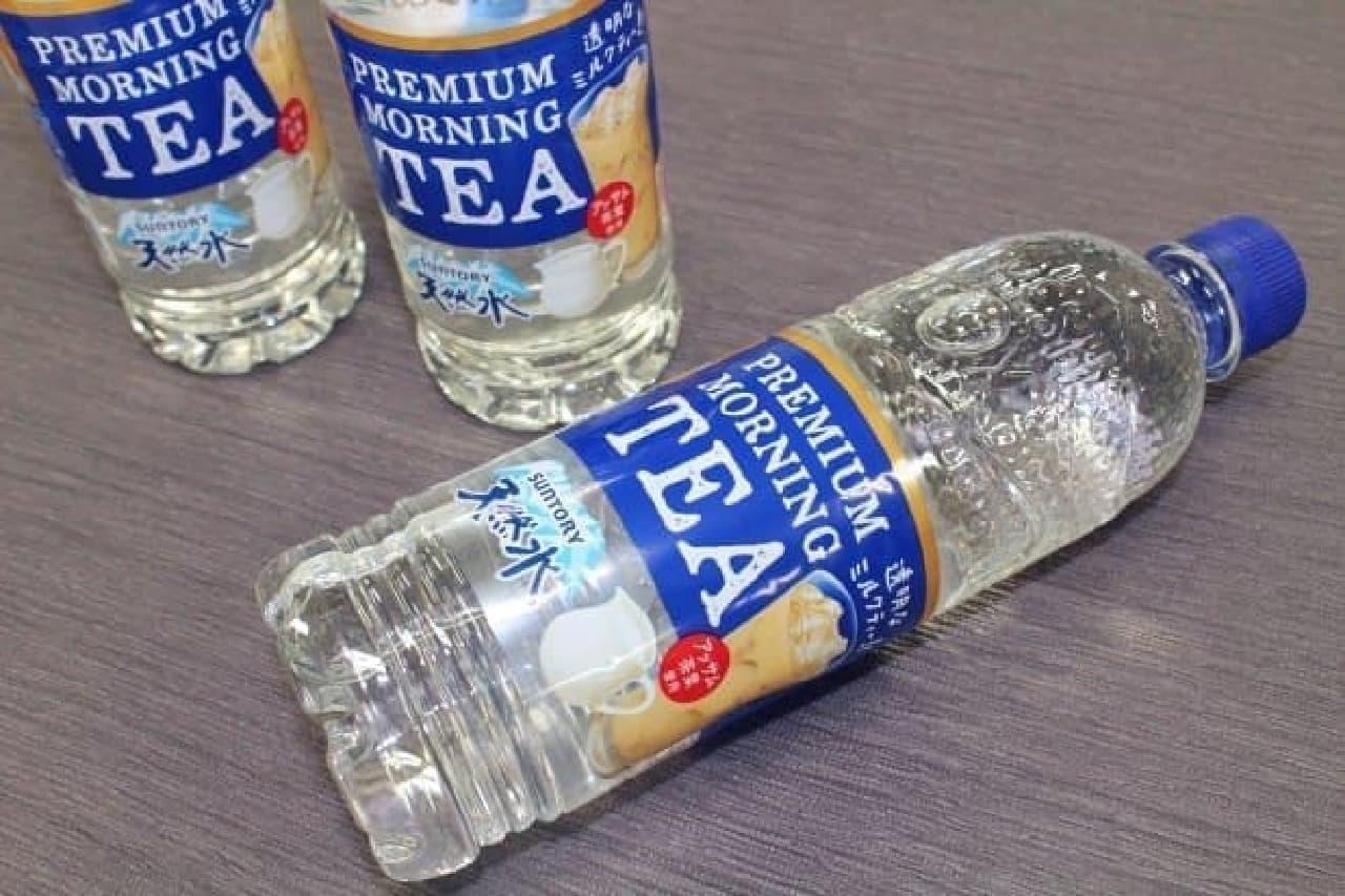 サントリー食品インターナショナル「サントリー天然水 PREMIUM MORNING TEA(プレミアムモーニングティー)ミルク」