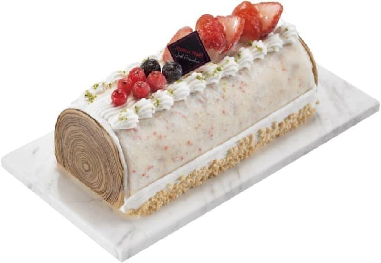 セブン-イレブン「ジョエル・ロブション ブッシュドノエル アイスケーキ ~ストロベリーの風味で~」