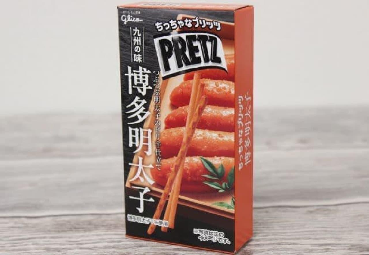 博多明太子は、福岡県産の辛子明太子でピリ辛に仕上げられたプリッツ