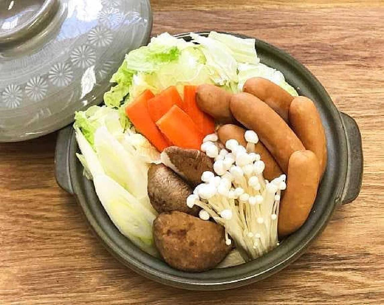 丸大食品「鍋にぴったり!岩下の新生姜入りソーセージ」