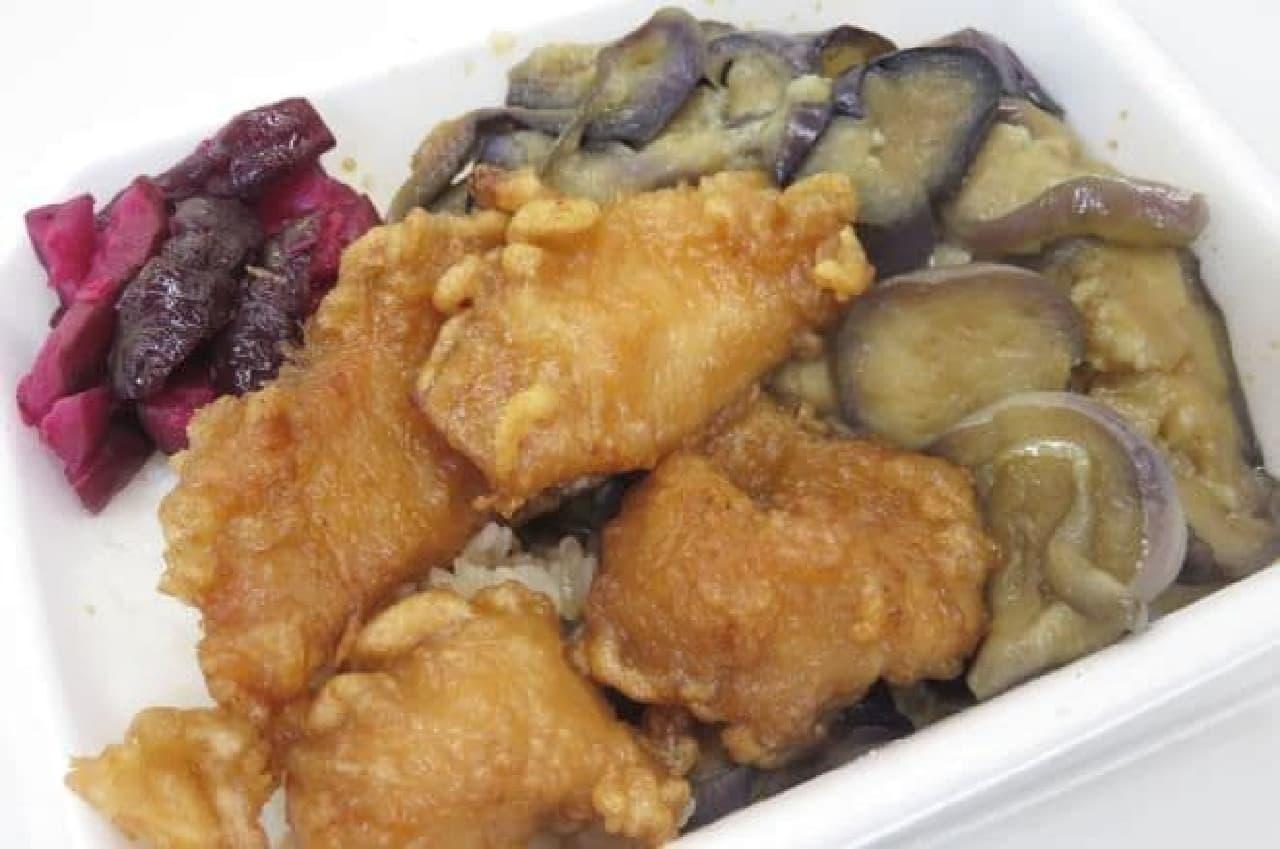 早稲田「わせだの弁当屋」の「茄子カラ弁当」