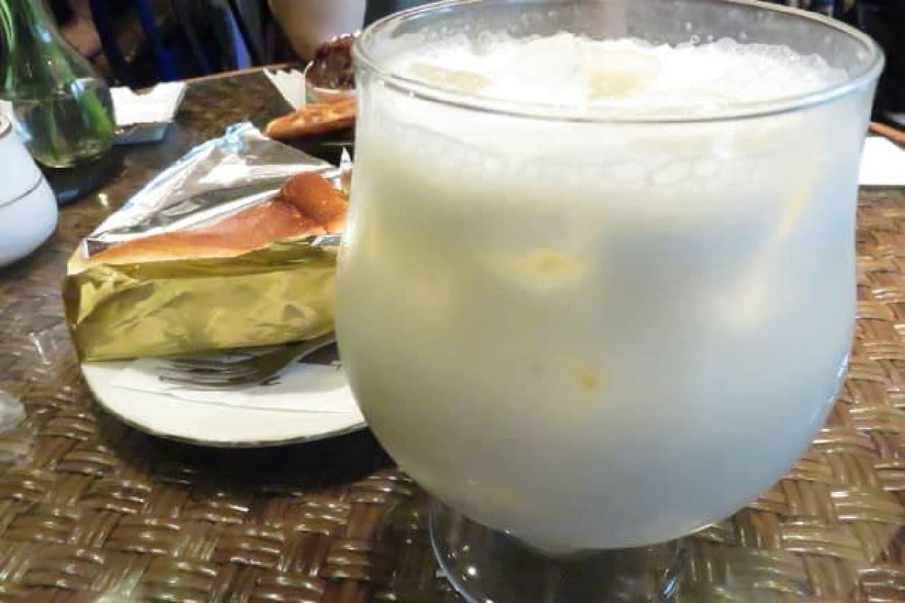 喫茶店「gion」のバナナジュース