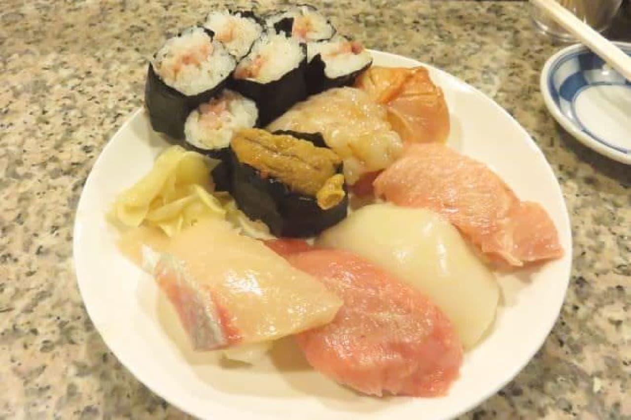 JR高田馬場駅から徒歩約1分でいける高コスパ寿司屋「幸寿司」の特選