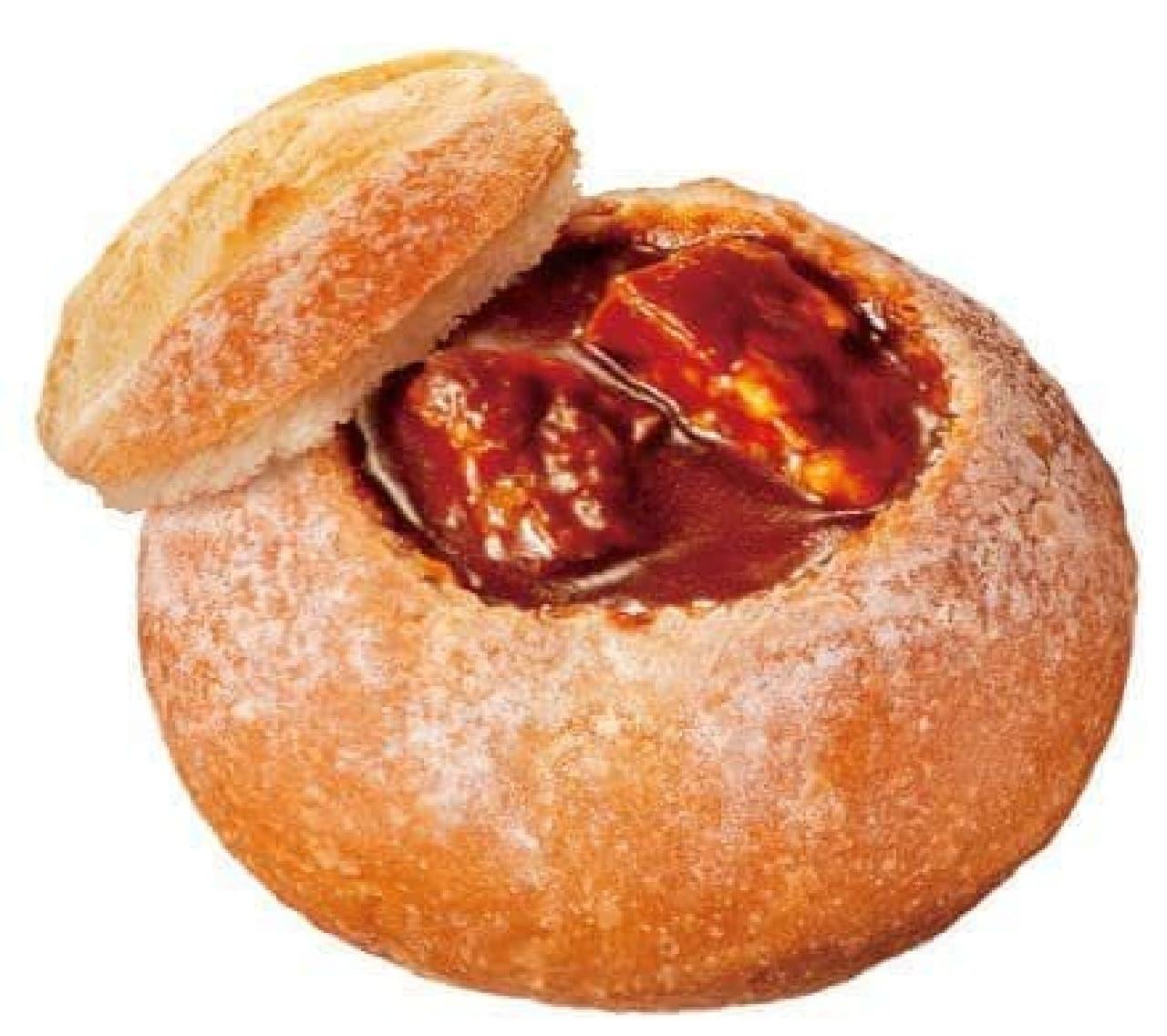 「ビーフシチュー」は、旨みとコクが詰まった本格的なビーフシチューが入ったスープパン