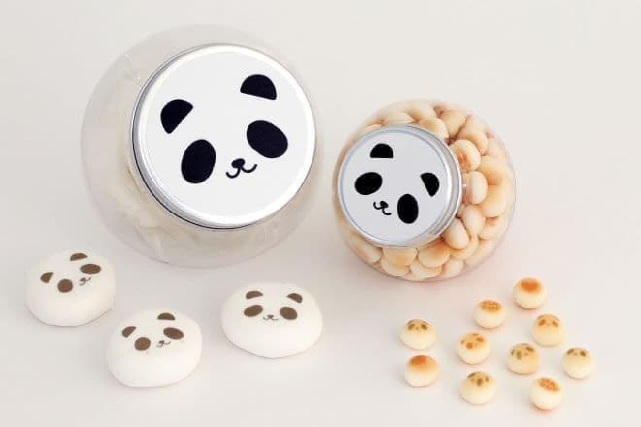 「お菓子のおやこパンダセット」は、パンダの赤ちゃん(シャンシャンちゃん)命名記念のお菓子セット