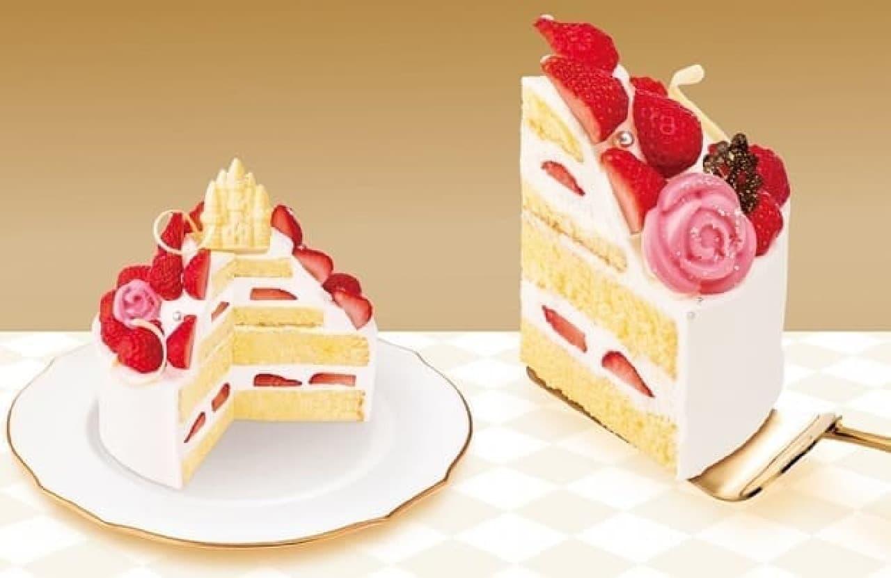 美女と野獣のクリスマスケーキ「魔法のバラと苺たち」