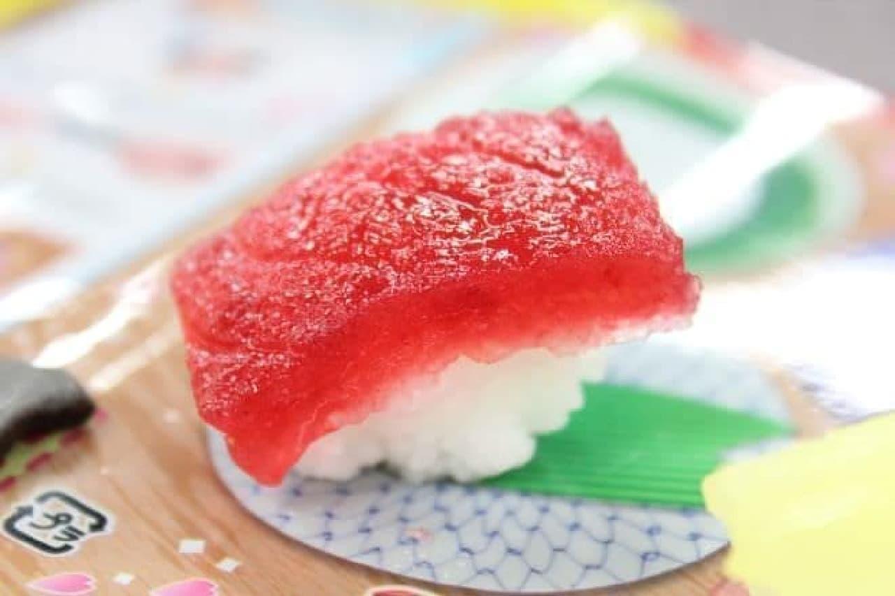 クラシエから販売されている知育菓子ポッピンクッキン・シリーズの「たのしいおすしやさん」で作った寿司