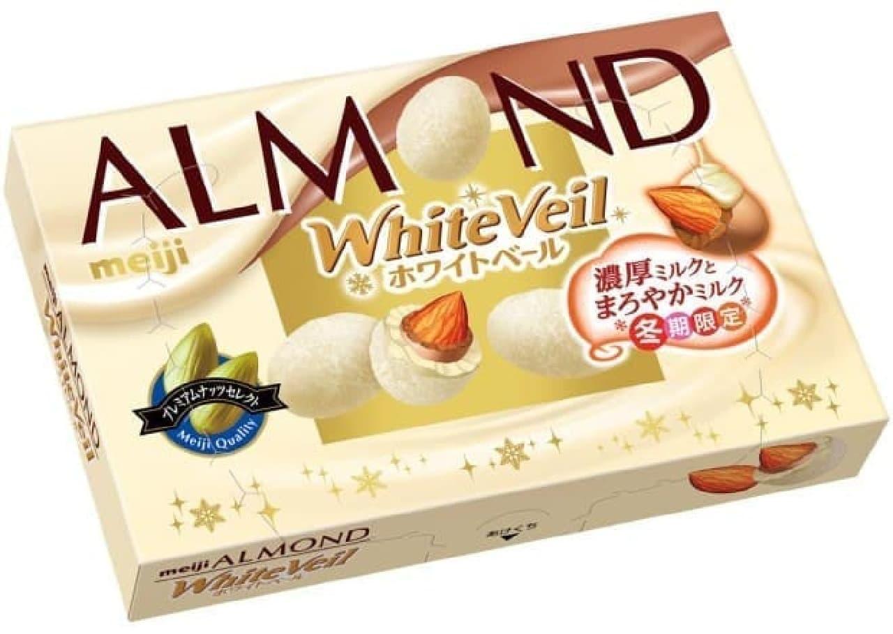 明治「アーモンドチョコレートホワイトベール」