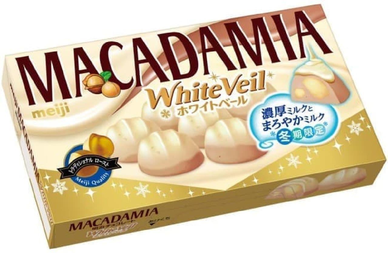 明治「マカダミアチョコレートホワイトベール」
