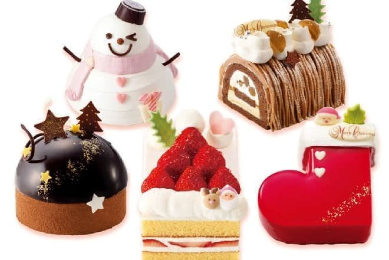 「5つのクリスマスガトー」は、プライベート・サイズのクリスマスケーキ
