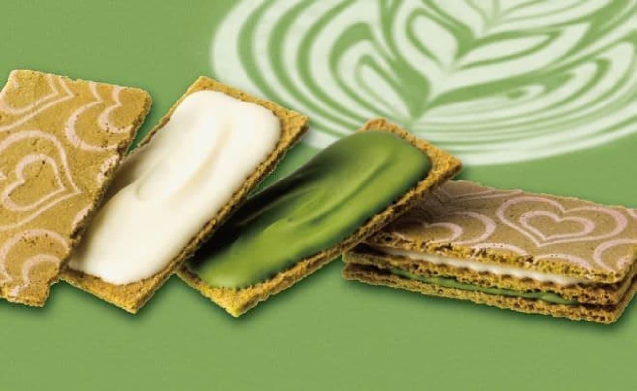 「抹茶のショコラテサンド」は、人気の東京駅限定スイーツ『銀のぶどうのチョコレートサンド<アーモンド>』 のプレミアム版