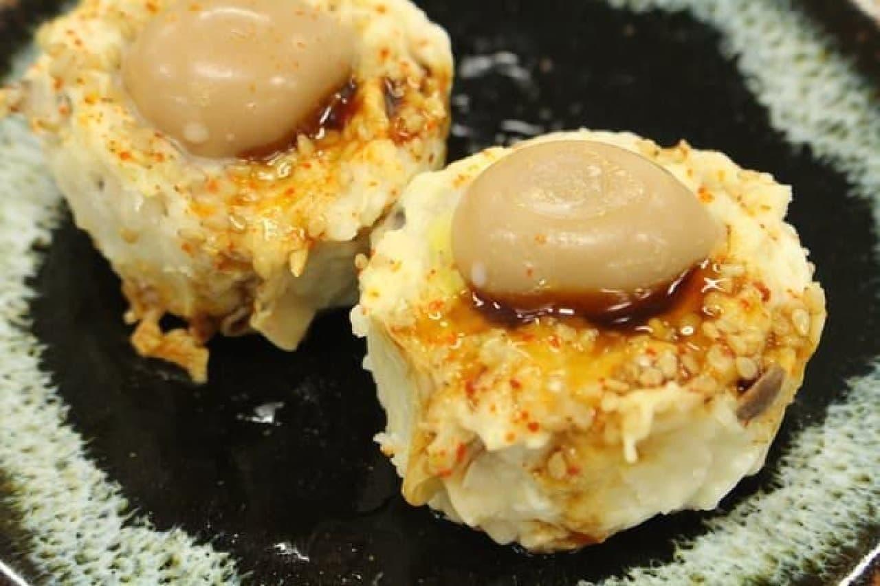 味付けうずら卵と国産鶏の焼売