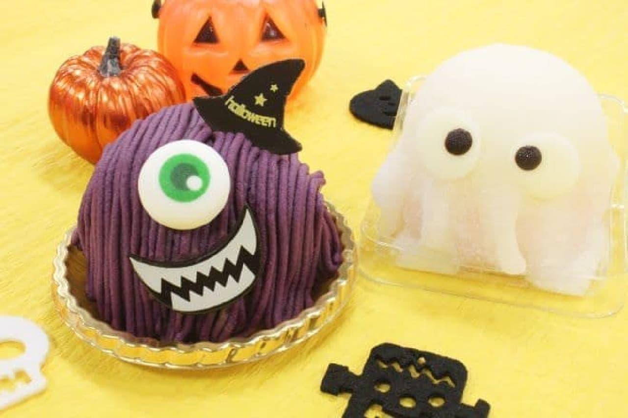 「Colombin(コロンバン)」のケーキ「ハロウィンモンスター」と「おばけチーズケーキ」