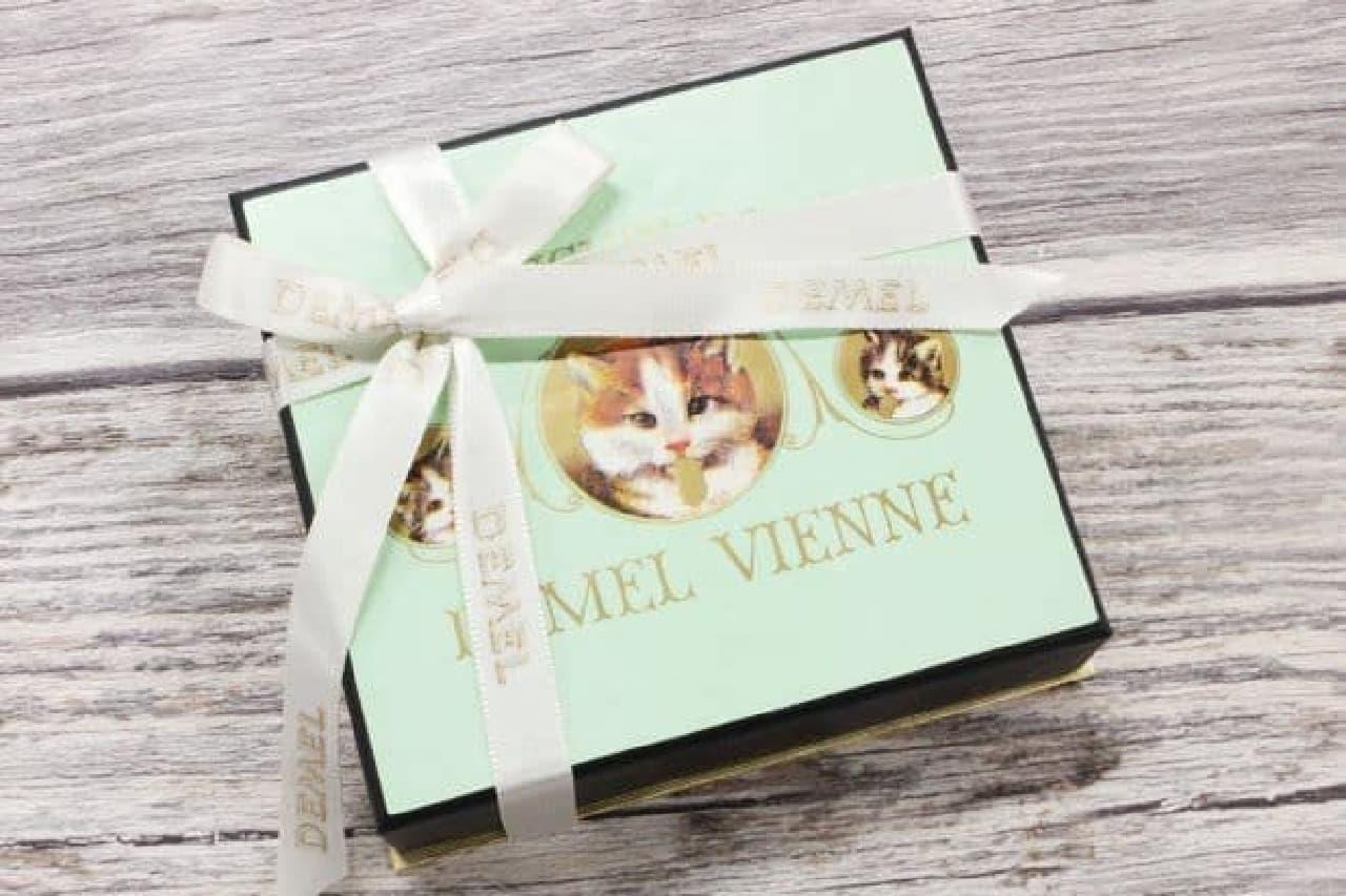老舗洋菓子ブランドDEMEL(デメル)の「ソリッドチョコ 猫ラベル」