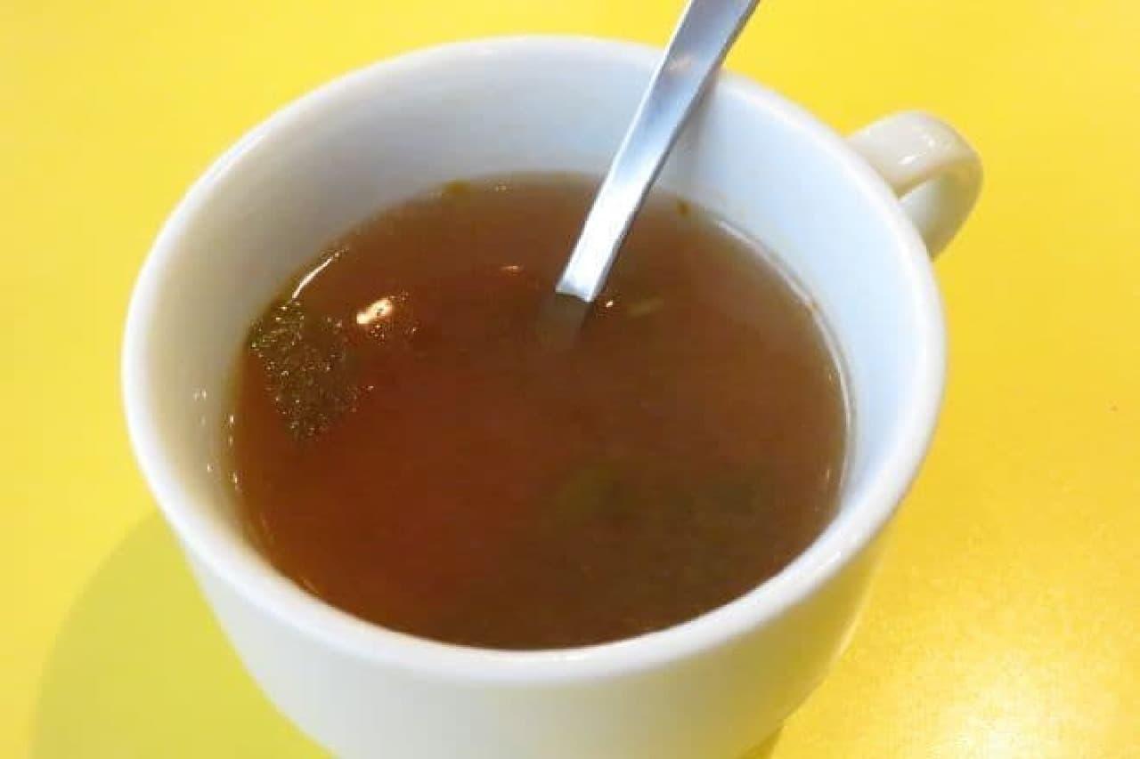 サクラカフェのモーニングのトマトスープ