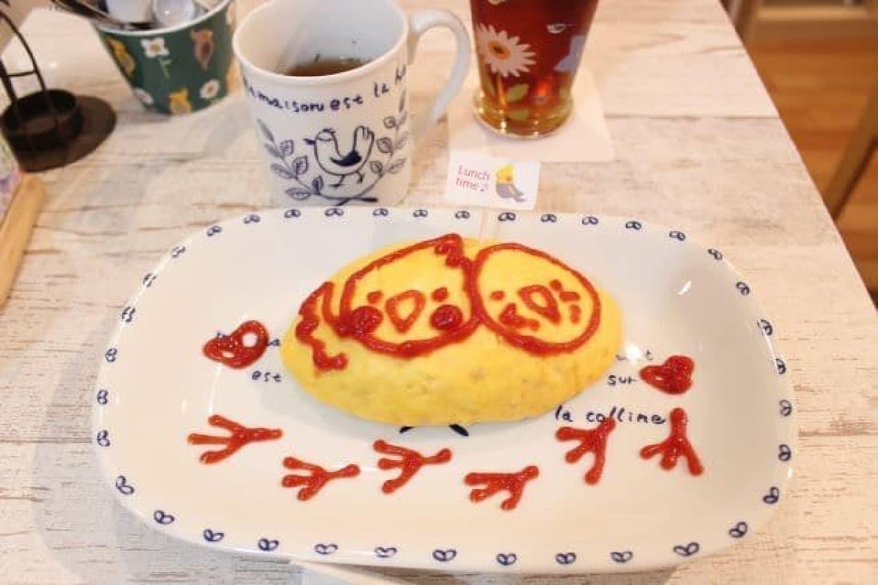 ことりカフェ表参道店のオムライスランチセット