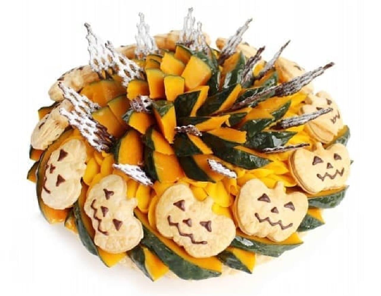 カフェコムサ「ジャックオーランタン ~かぼちゃのケーキ~」