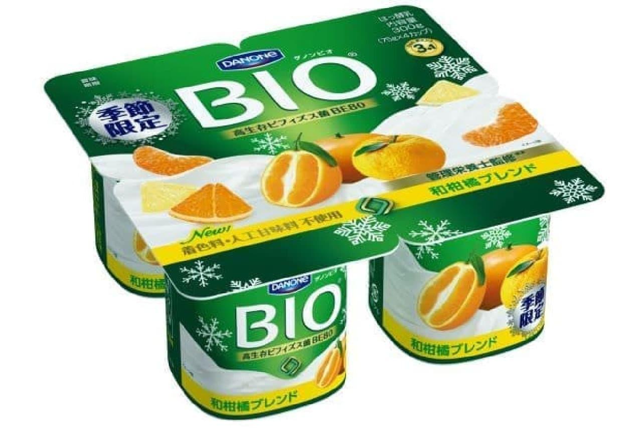 「ダノンビオ 和柑橘ブレンド」は、管理栄養士が監修した和柑橘フレーバーのダノンビオ
