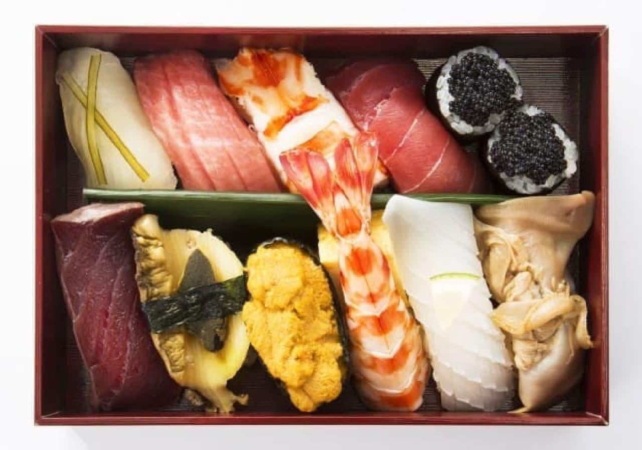 築地寿司清「厳選極上にぎり」