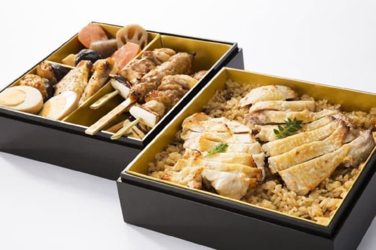 鳥麻「日本三大地鶏 鶏づくし二段重」