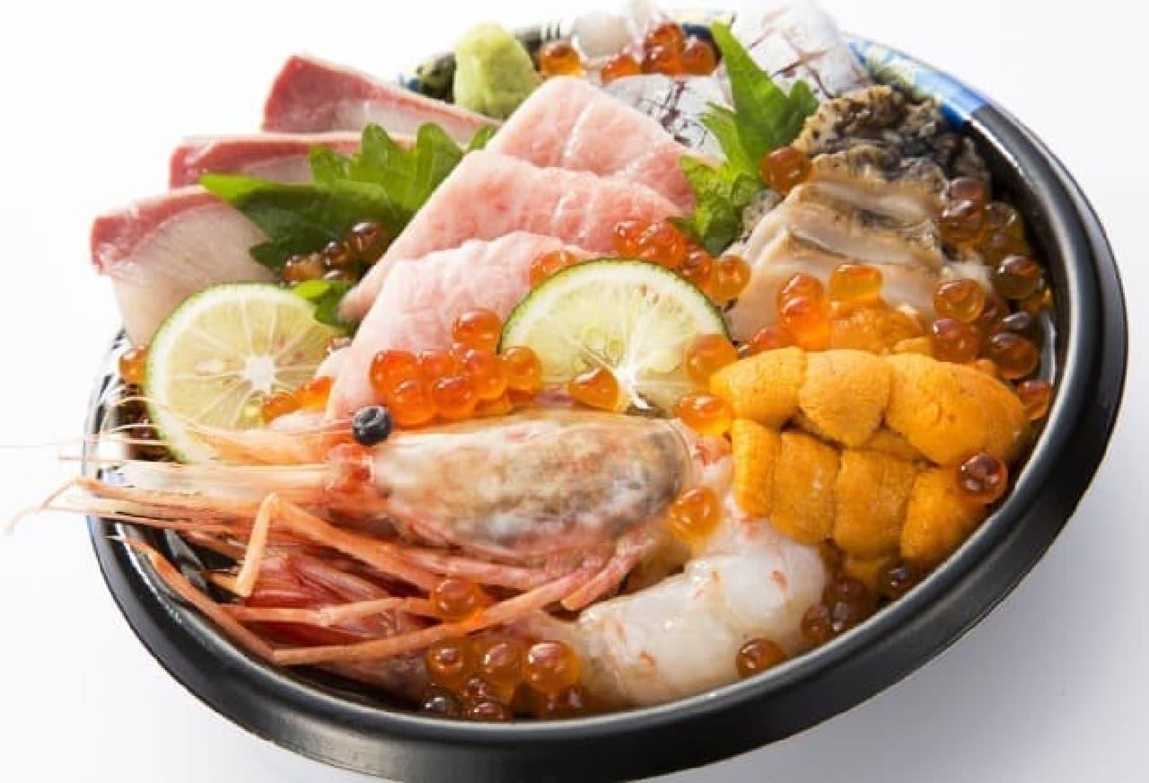 築地 竹若「国産・天然・生海鮮丼」