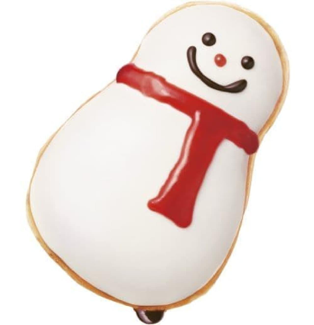 「スノーマン チョコレート」は、スノーマンデザインのドーナツ