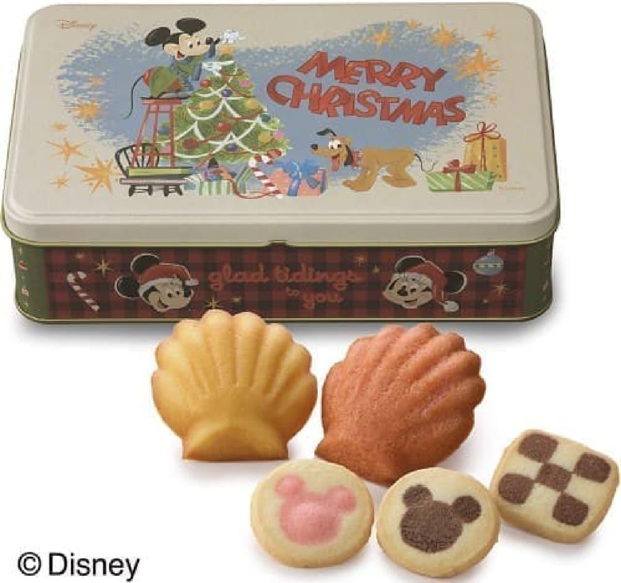 銀座コージーコーナー「<ディズニー>クリスマス缶(5種13個入)」